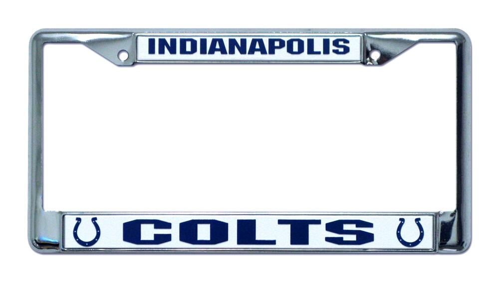Indianapolis Colts License Plate Frame Holder Final Playoff