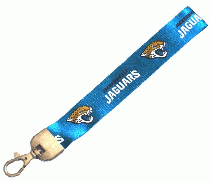 Jacksonville Jaguars Wristlet Lanyard Lobster Clasp