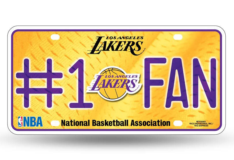 Los Angeles Lakers Metal License Plate Final Playoff
