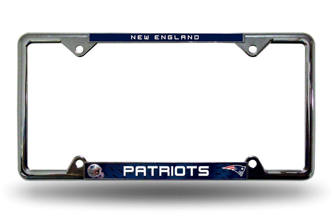New England Patriots License Plate Frame Holder Final