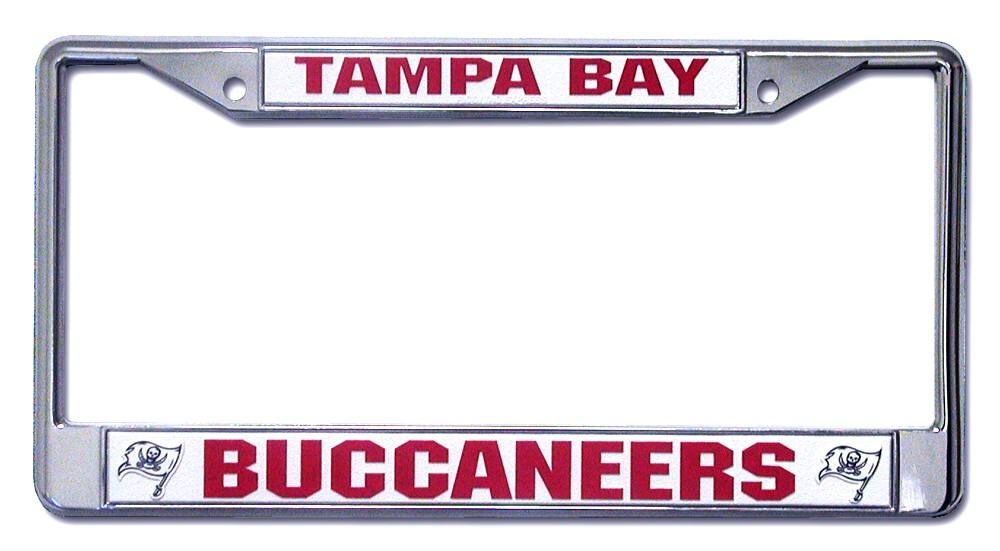 Tampa Bay Buccaneers License Plate Frame Holder Final